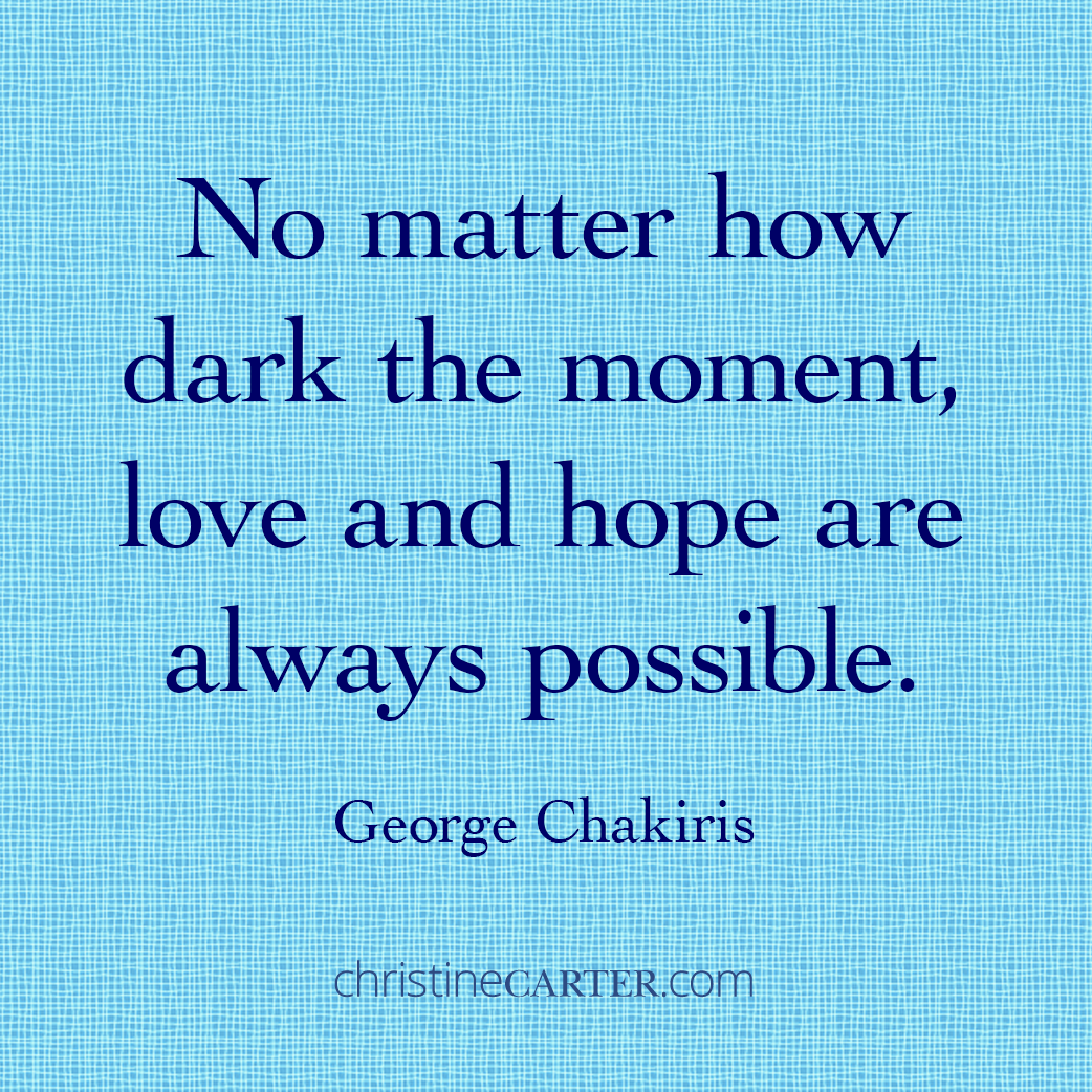 """""""No matter how dark the moment, love and hope are always possible."""" -- George Chakiris"""