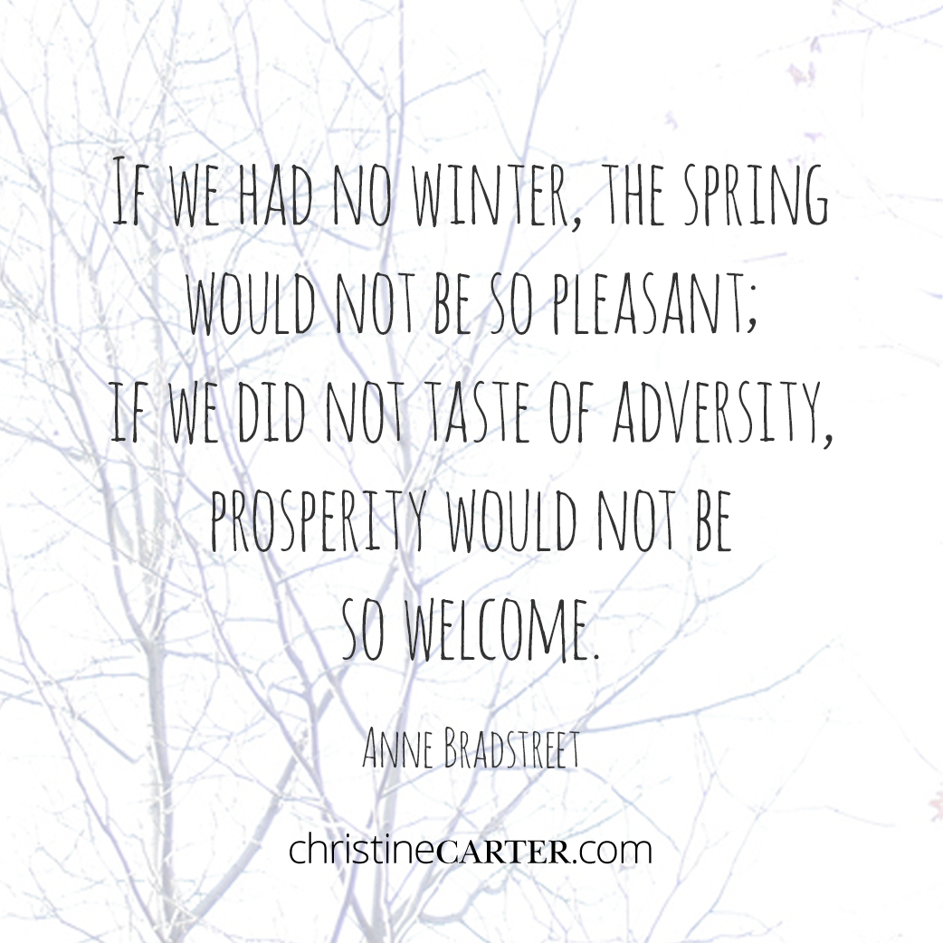 If we had no winter, the spring would not be so pleasant; if we did not taste of adversity, prosperity would not be so welcome. — Anne Bradstreet