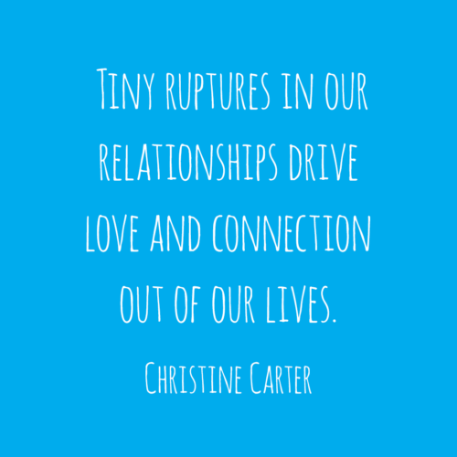 Tiny ruptures in our relationships drive love and connection out of our lives.